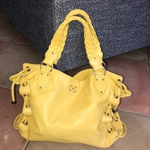Michael Kors summer yellow large handbag purse